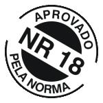 Andaimes fabricados conforme norma NR18